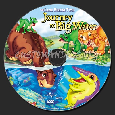 The Land Before Time IX Journey To Big Water dvd label