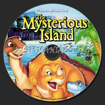 The Land Before Time V The Mysterious Island dvd label