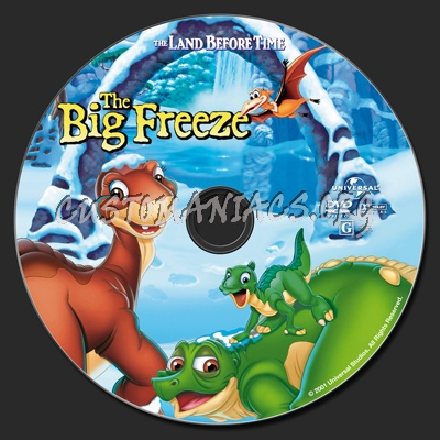 The Land Before Time VIII The Big Freeze dvd label