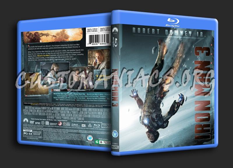 Iron Man Trilogy - Iron Man 3 blu-ray cover