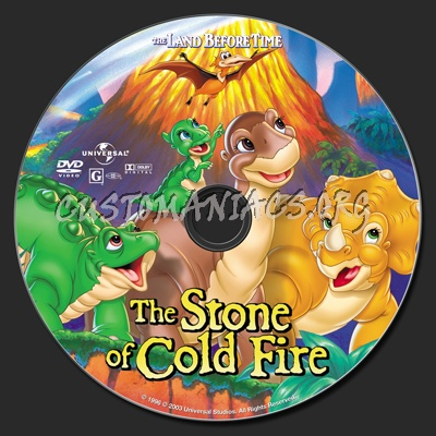 The Land Before Time VII The Stone Of Cold Fire dvd label