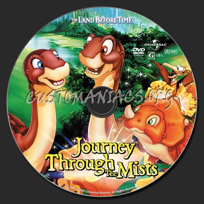 The Land Before Time IV Journey Through The Mists dvd label