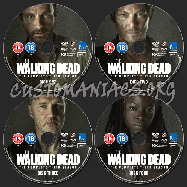 The Walking Dead Season 3 dvd label