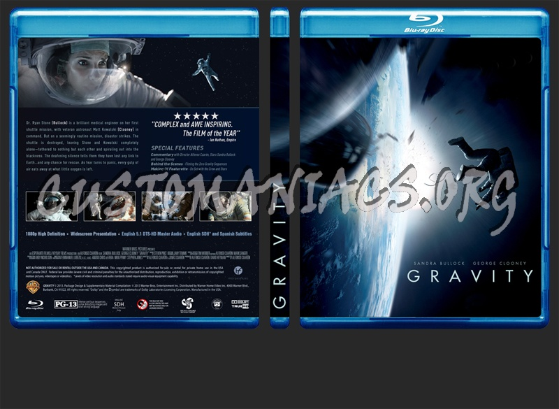 Gravity blu-ray cover - DVD Covers & Labels by ...