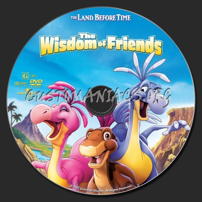 The Land Before Time XIII The Wisdom Of Friends dvd label