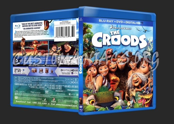 The Croods blu-ray cover