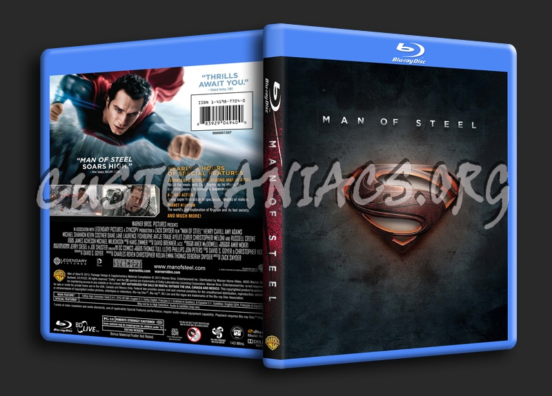 Man of Steel blu-ray cover