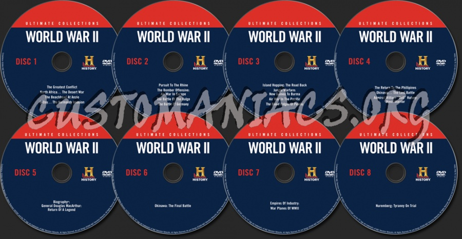 World War II  Ultimate Collections dvd label