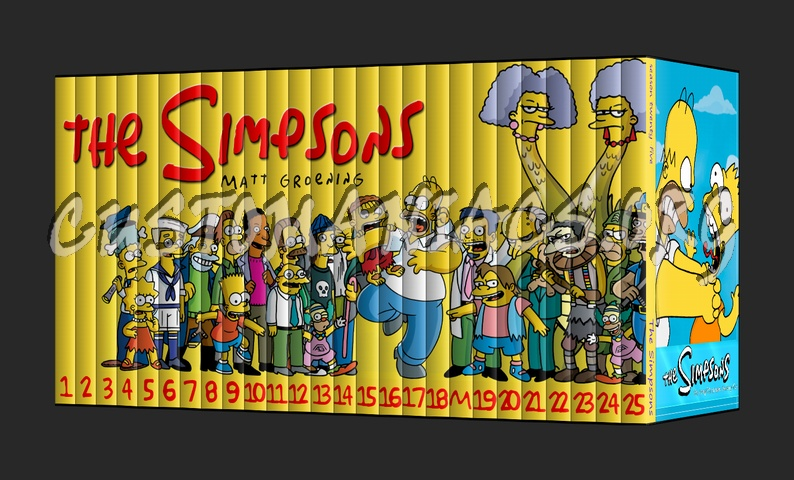 the simpsons tv collection dvd cover dvd covers