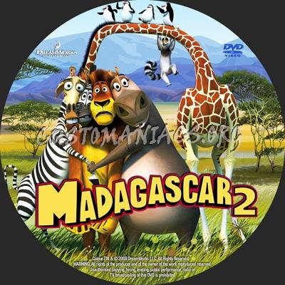 Madagascar 2 dvd label