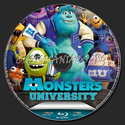 Monsters University blu-ray label