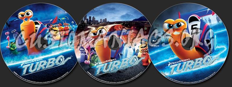 Turbo blu-ray label