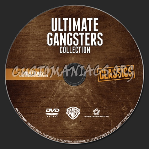 Ultimate Gangsters Collection Public Enemies blu-ray label