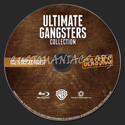 Ultimate Gangsters Collection The Petrified Forest blu-ray label