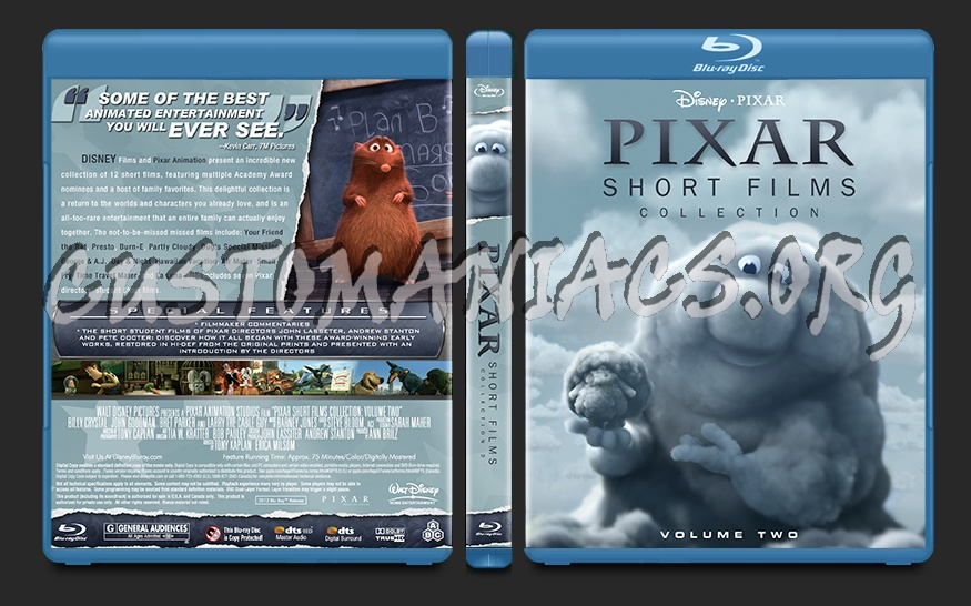 Pixar Short Film Collection Volume Two blu-ray cover