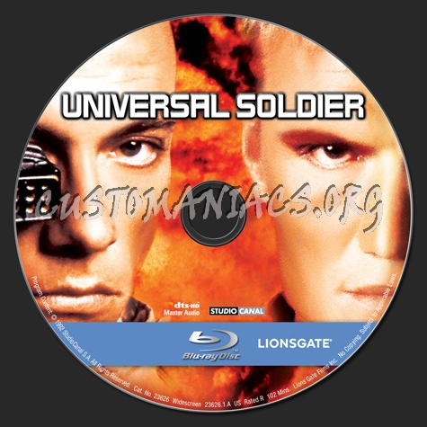 Universal Soldier blu-ray label