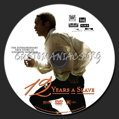 12 Years A Slave dvd label