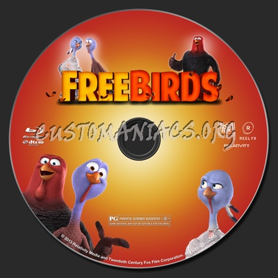 Free Birds blu-ray label - DVD Covers & Labels by ...