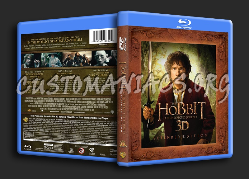 The Hobbit: An Unexpected Journey - Extended Edition 3D blu-ray cover