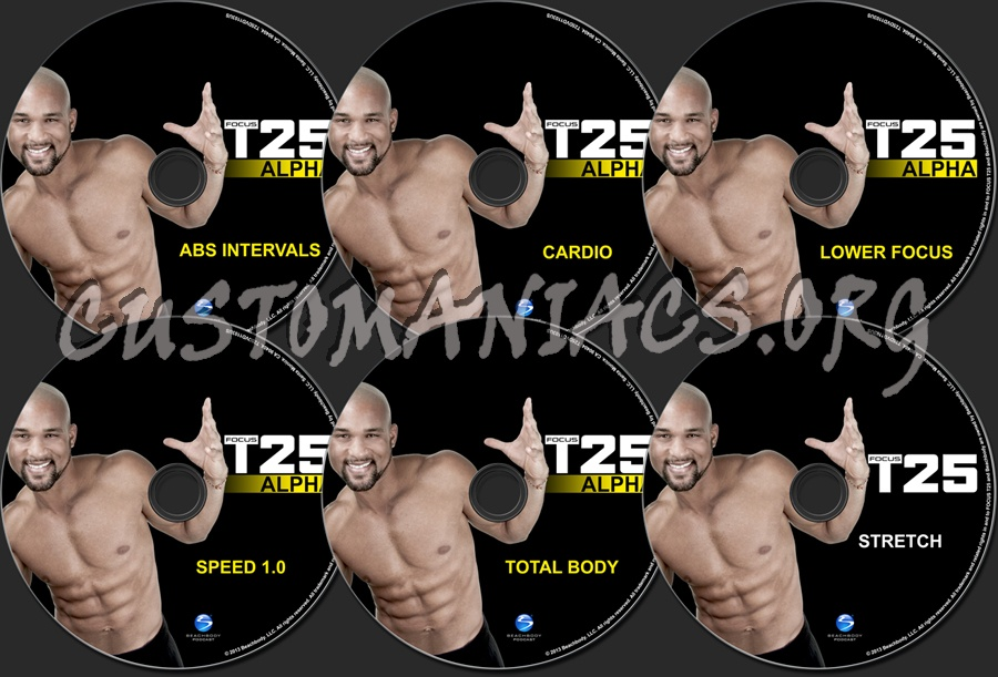 Focus T25 Alpha dvd label