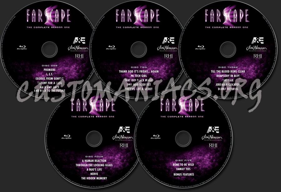 Farscape Season 1 blu-ray label
