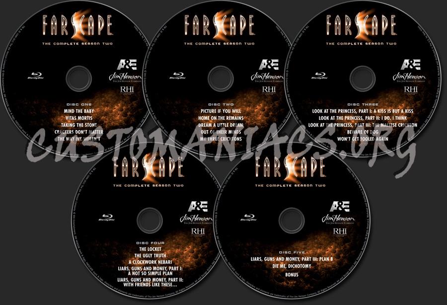 Farscape Season 2 blu-ray label