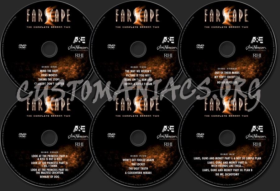 Farscape Season 2 dvd label