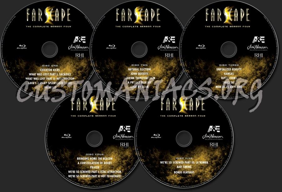 Farscape Season 4 blu-ray label