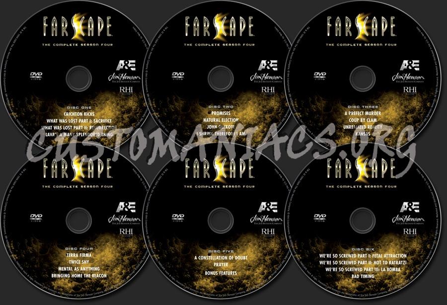 Farscape Season 4 dvd label
