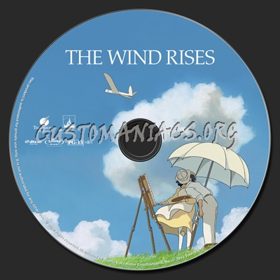 The Wind Rises blu-ray label