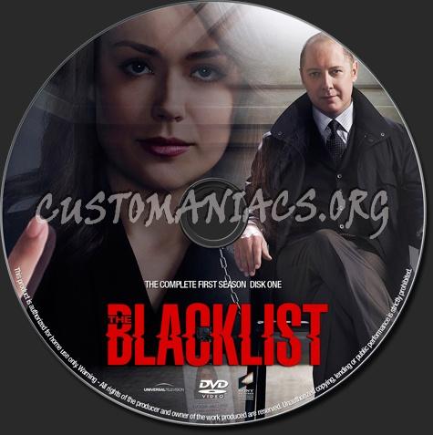 The Blacklist season 1 dvd label