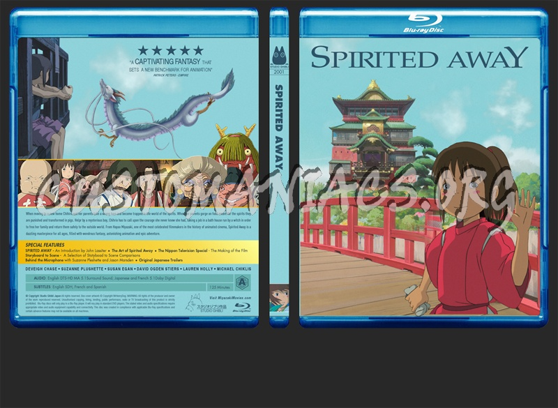 Spirited Away blu-ray cover