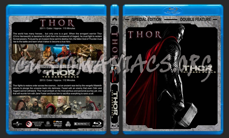 Thor Double Feature blu-ray cover