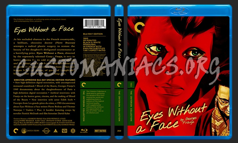 260 - Eyes Without A Face blu-ray cover