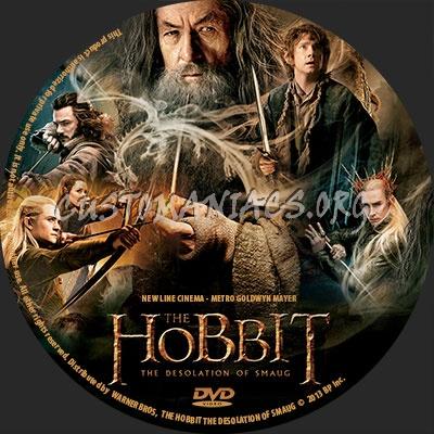 Hobbit: The Desolation Of Smaug dvd label