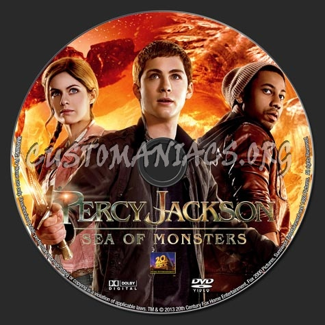 Percy Jackson Sea of Monsters (2013) dvd label