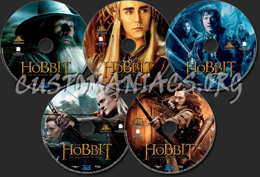 Hobbit: The Desolation Of Smaug 3D blu-ray label