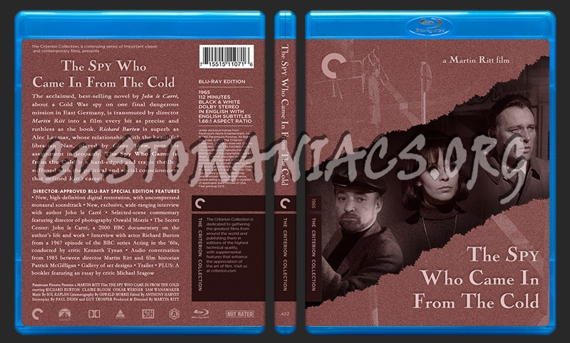 452 - The Spy Who Came In From The Cold blu-ray cover