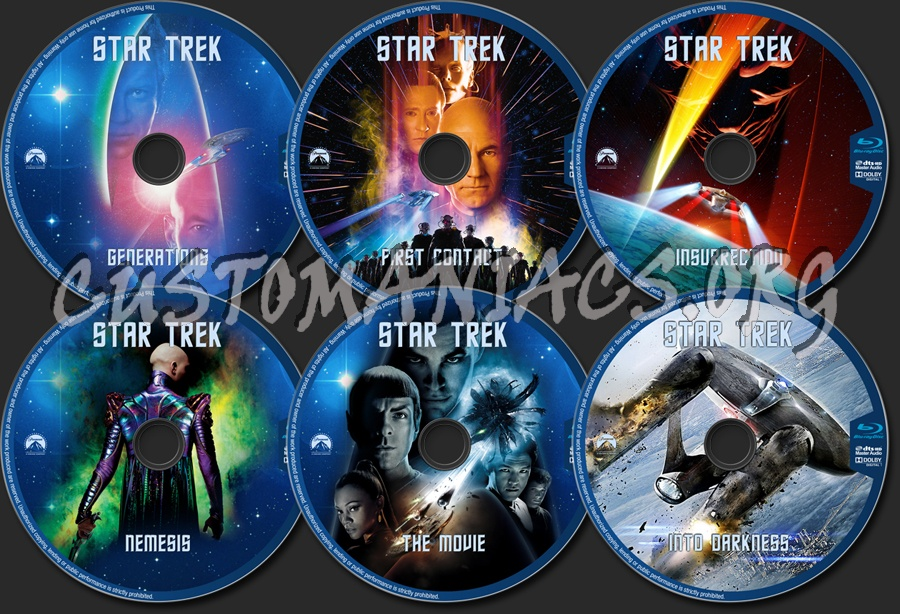 Star Trek - The movies blu-ray label