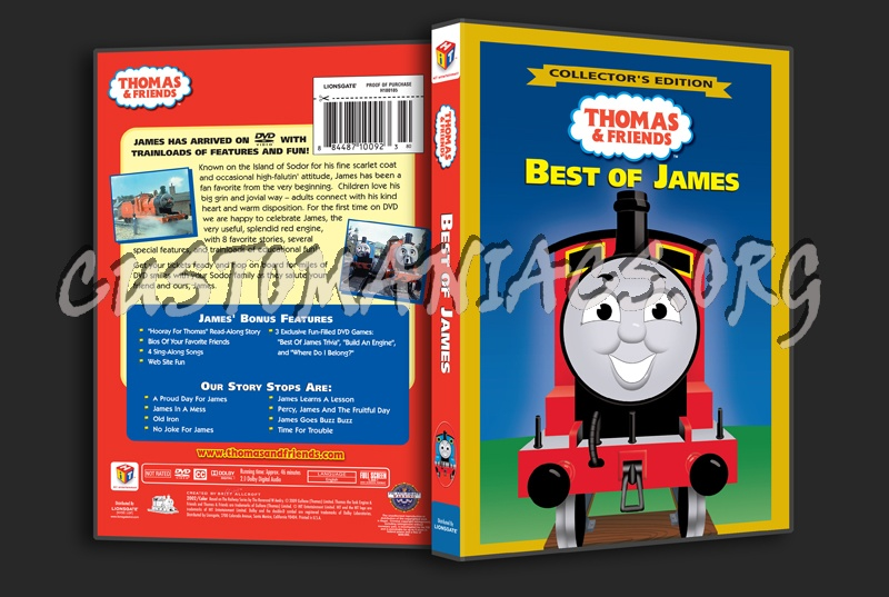 Thomas & Friends: Best of James dvd cover - DVD Covers ...