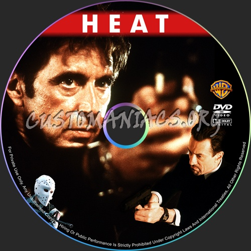 Heat dvd label