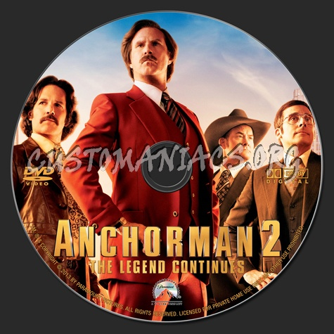 anchorman 2 the legend continues dvd label dvd covers