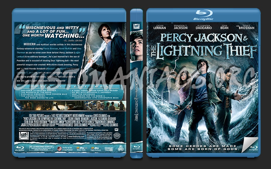 Percy Jackson and the Olympians: The Lightning Thief blu-ray cover