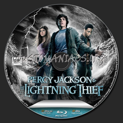 Percy Jackson and the Olympians: The Lightning Thief blu-ray label