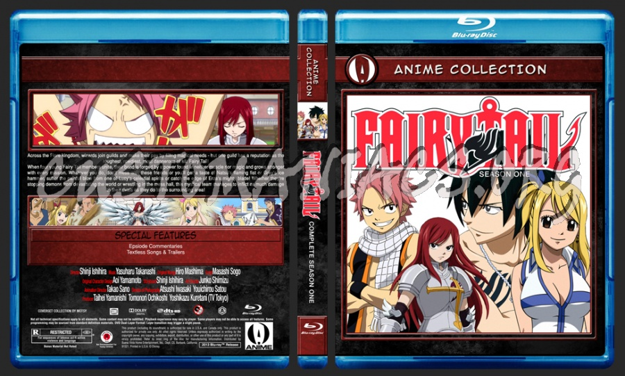 Anime Collection Fairy Tail Complete First Season blu-ray cover