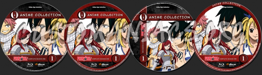 Anime Collection Fairy Tail Complete First Season blu-ray label
