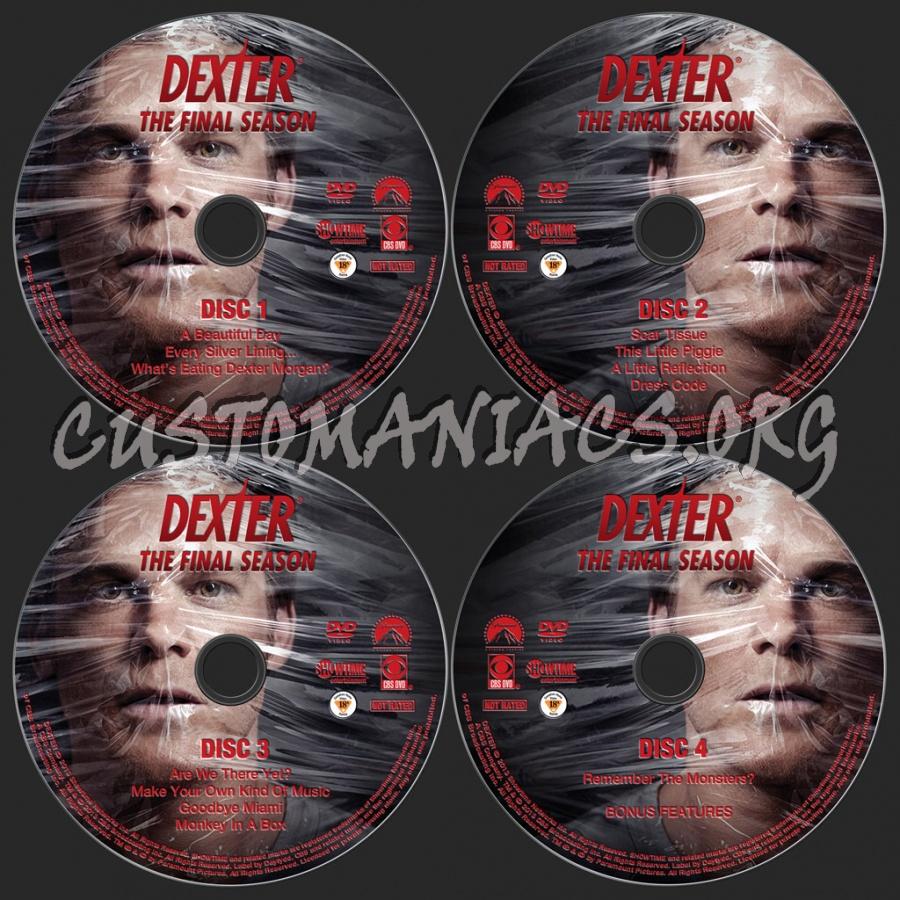 Dexter Season 8 dvd label
