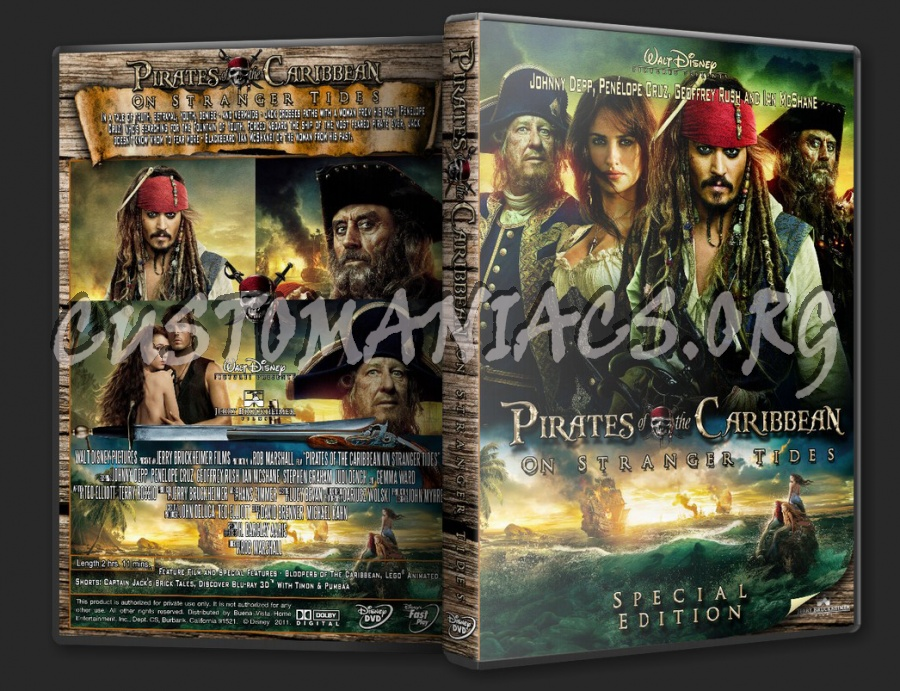 Pirates Of The Caribbean On Stranger Tides 2011 Dvd Cover Dvd Covers Labels By Customaniacs Id 201520 Free Download Highres Dvd Cover