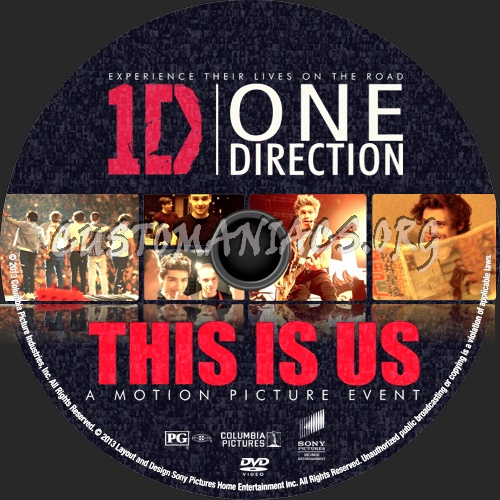 One Direction: This Is Us (2013) dvd label
