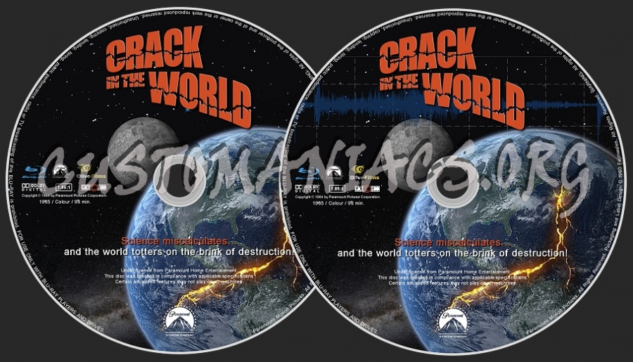 A Crack In The World blu-ray label